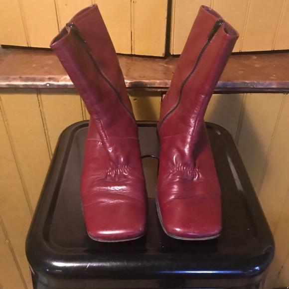 df3e009f6dd2c Vintage Spatarella Low Bordeaux Leather Boots